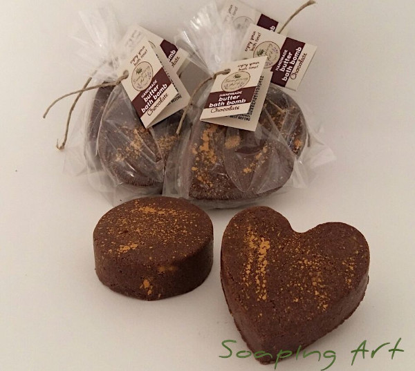 Chocolate butter bath bomb - 70 g